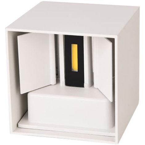 Cubo cuarto de bano LED de luz de lampara de pared, AC85-265V, 12W, cascara blanca, luz blanca calida