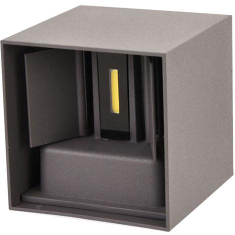 Cubo cuarto de bano LED lampara de pared ligera, AC85-265V, 12W, Shell gris, luz blanca