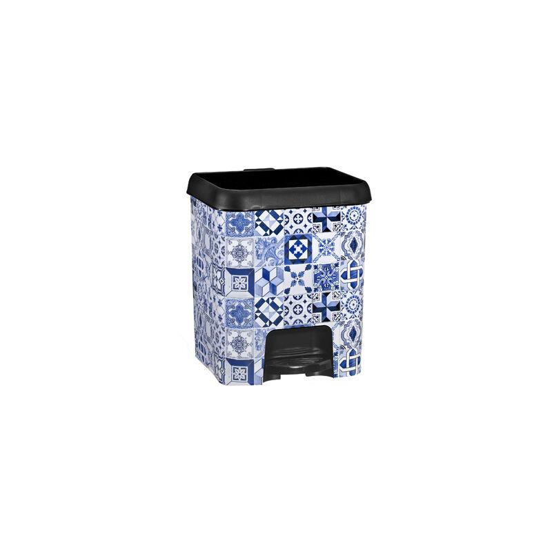Cubo de basura con pedal 7 litros en color negro Alhambra - GREAT PLASTIC