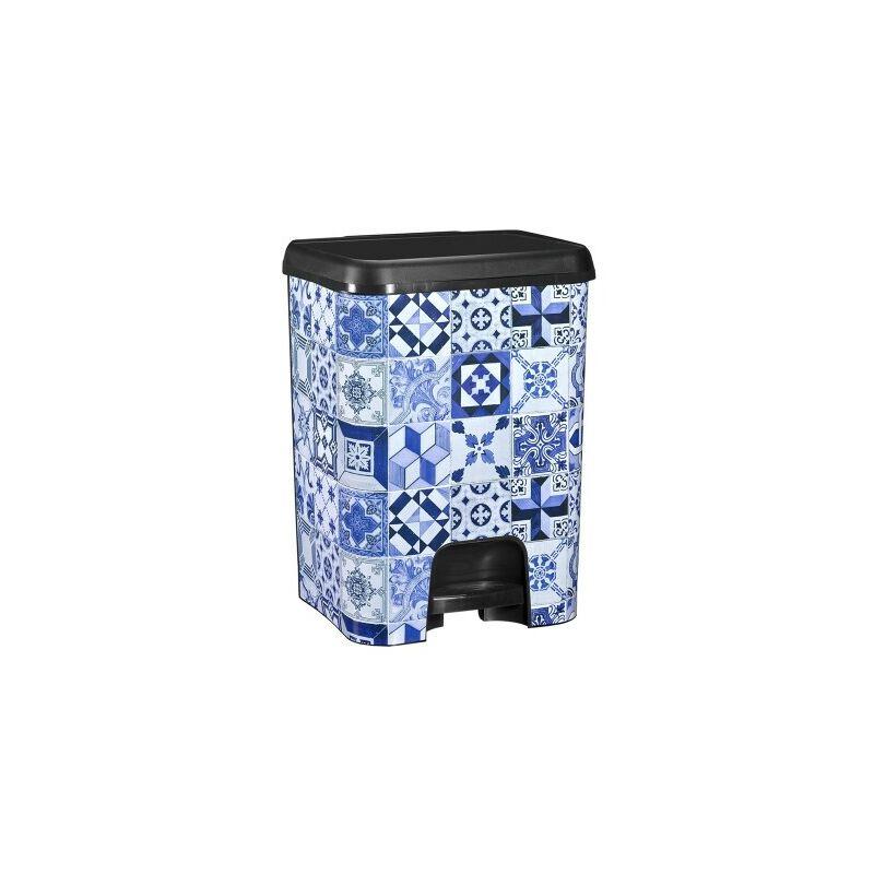 Cubo de basura con pedal Class 26 litros en color negro metalizado Alhambra - GREAT PLASTIC