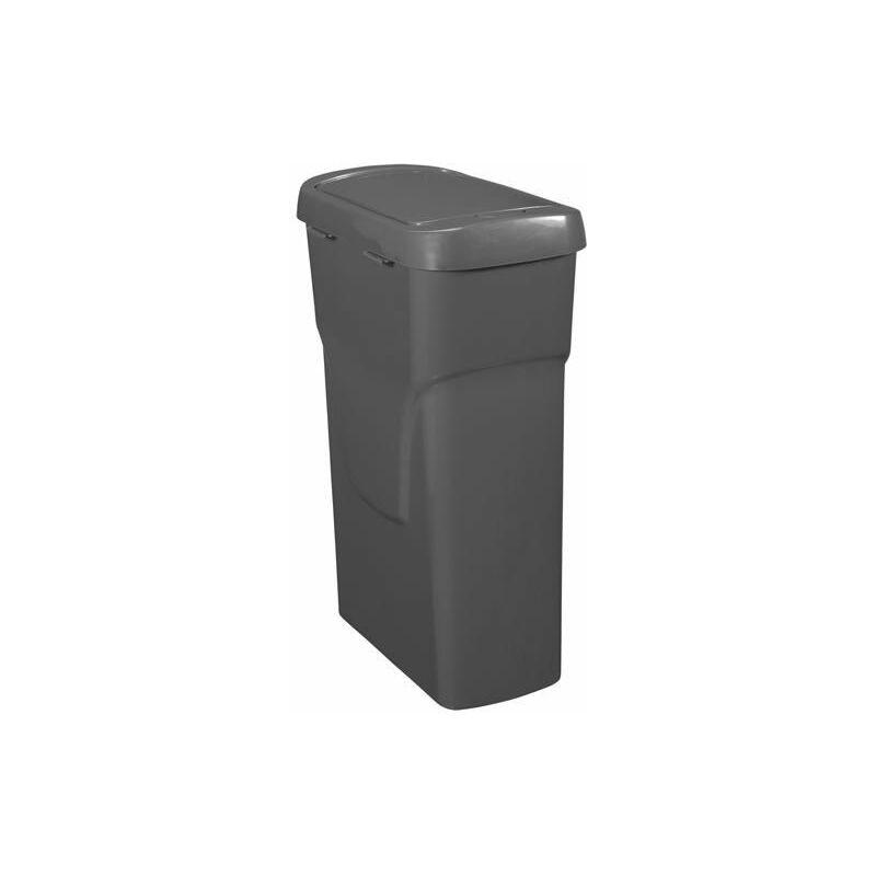 Cubo de basura con pedal Eco 25 litros en color negro - GREAT PLASTIC