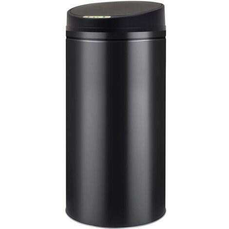 Cubo de basura con sensor automático 52 L negro