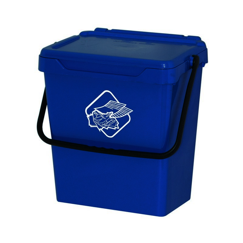 Homemania - Cubo de basura Different - Cubo - para la recogida selectiva - Azul, Negro en Polipropileno, 40 x 30,5 x 39 cm