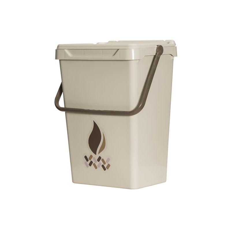 Homemania - Cubo de basura Different - Cubo - para la recogida selectiva - Beige, Marron en Polipropileno, 40 x 30,5 x 51 cm