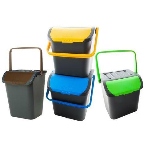 Cubo de basura selectiva 35 litros pack 4 colores