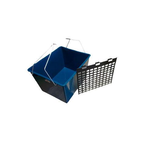 """main image of """"Cubo de pintor azul de 16 litros con rejilla y dos asas"""""""