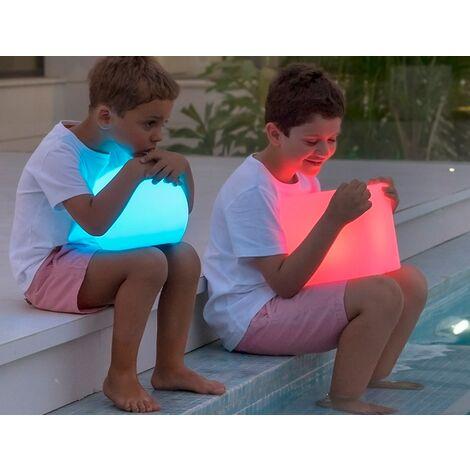 Cubo iluminado MOOVERE 32cm outdoor Solar+Batería recargable LED/RGB