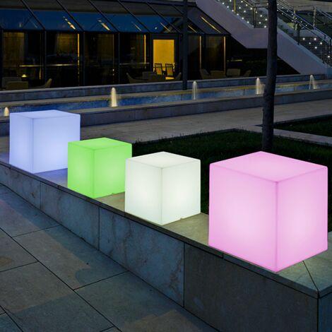 Cubo iluminado MOOVERE 45cm outdoor Solar+Batería recargable LED/RGB