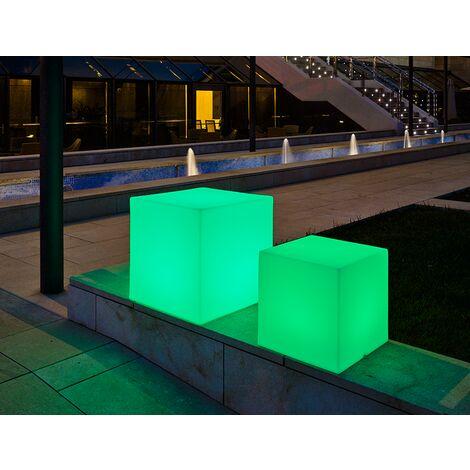 Cubo iluminado MOOVERE 53cm outdoor Solar+Batería recargable LED/RGB