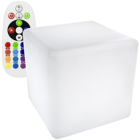 Cubo LED RGBW 40cm Recargable