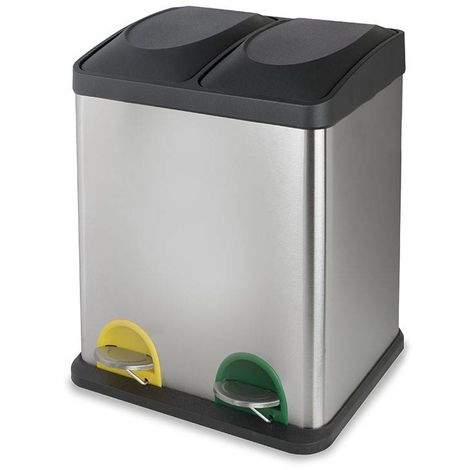 Cubo Pedal Ecológico Doble Cromado Habitex