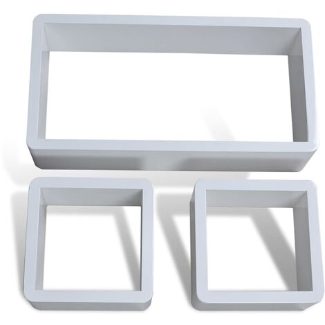 Cuboid shelf set of 3