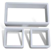 Cuboid shelf set of 3