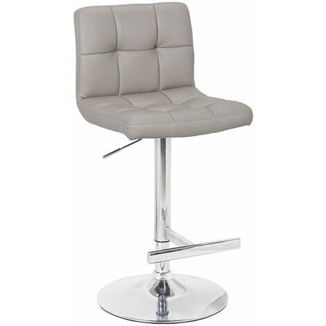 """main image of """"Cuborn Grey Bar Stool Faux Leather"""""""