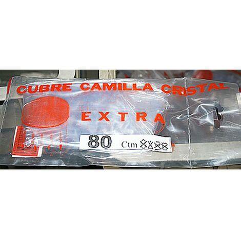 Cubre Camilla Mesa Cristal Con Vivo 080Cm Plastico Teplas 0.80