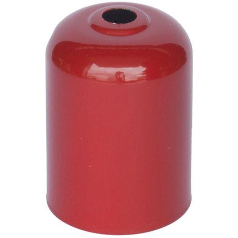 Cubre portalámparas decorativo rojo 45x60mm.