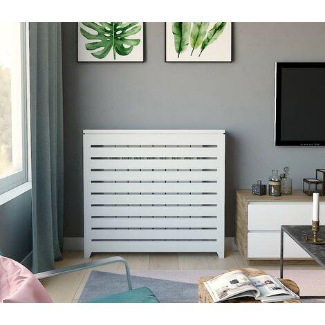 Cubre radiador. Ancho 124 cms. Lacado color blanco.
