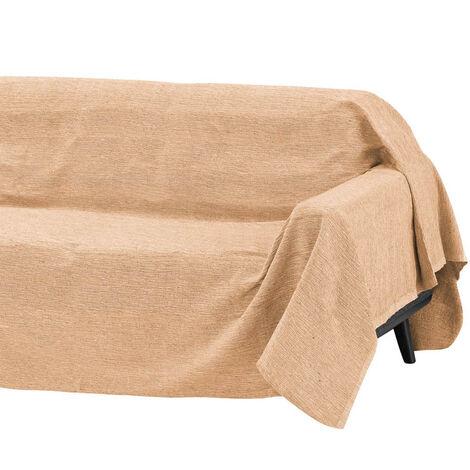 Cubre sofá amarillo multiusos de algodón y poliéster de 180x220 cm