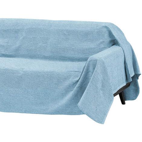 Cubre sofá azul multiusos de algodón y poliéster de 180x220cm