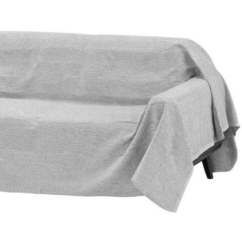 Cubre sofá gris multiusos de algodón y poliéster de 180x220cm