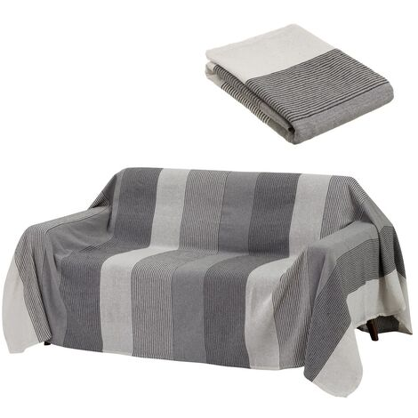 Cubre sofá protector gris clásico de algodón de 240x220 cm