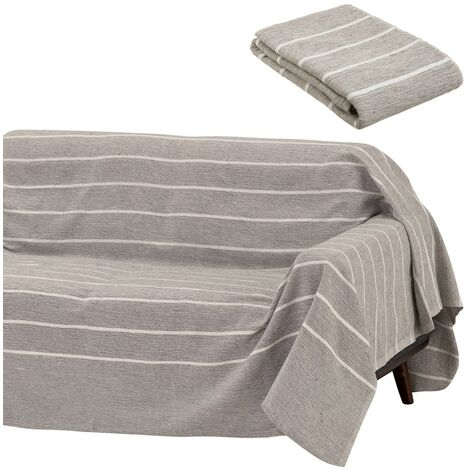 Cubre sofá protector marrón clásico de algodón de 220x160 cm