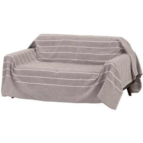 Cubre sofá protector marrón clásico de algodón de 240x220 cm