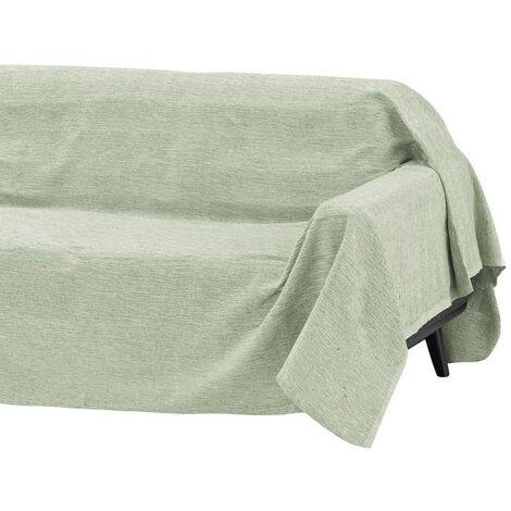 Cubre sofá verde multiusos de algodón y poliéster de 180x220 cm