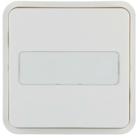 Cubyko 1 t. KNX p.-étiq blanc - APPAREILLAGE MURAL HAGER WNT922B