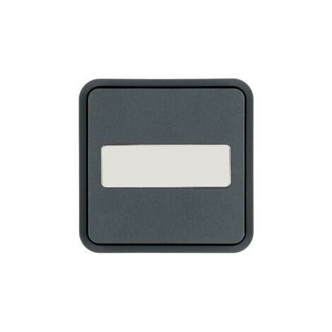 Cubyko 1 t. KNX p.-étiq gris - APPAREILLAGE MURAL HAGER WNT922