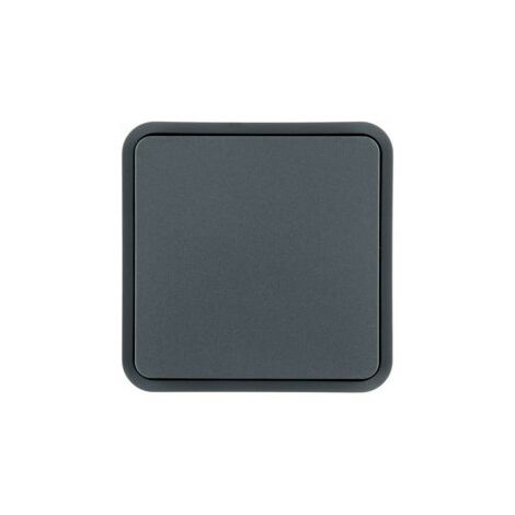 Cubyko 1 touche KNX gris - APPAREILLAGE MURAL HAGER WNT902