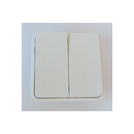 Cubyko 2 touches KNX coloris blanc HAGER WNT944B