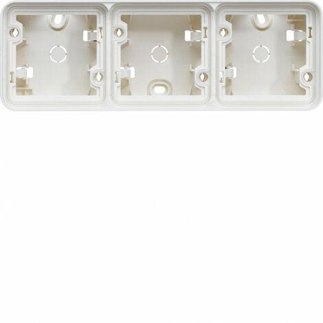 cubyko Boîte triple horizontale vide associable blanc IP55 (WNA683B)