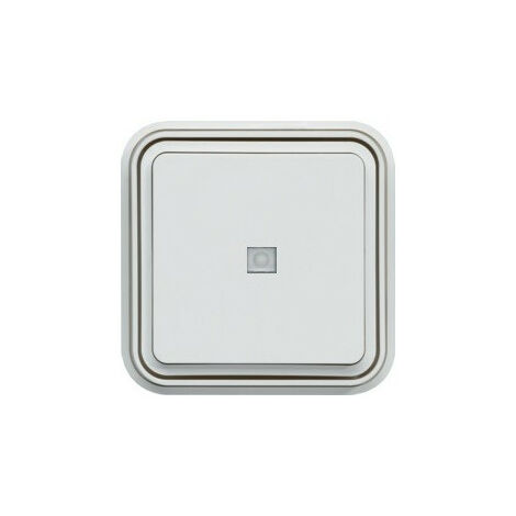 cubyko bouton poussoir 1O à voyant témoin encastré blanc (WNE023B)