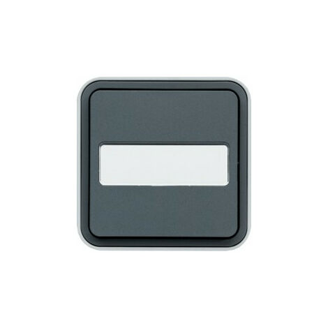 cubyko Bouton Poussoir porte-étiq 1O saillie gris (WNC025)