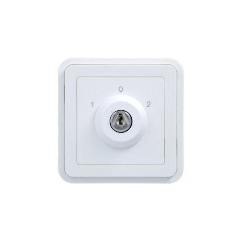 cubyko interrupteur à clé 3P extract. 0 associable Blanc (WNA037B)