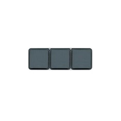 cubyko PC triple hor. 2P+T saillie gris (WNC123)