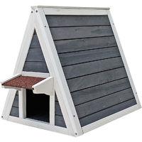 Cuccia gatto Casa casetta per gatti legno con doppio ingresso 51 x 50,5 x 48,5 cm