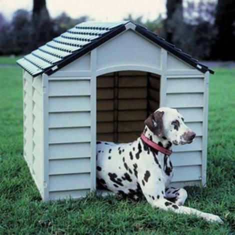 Cuccia in pvc per cani cm 86x84x82h colore grigio e verde