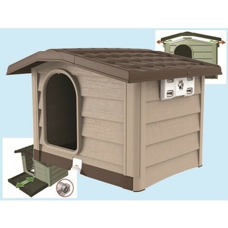 Cuccia per cane bungalow beige medium - 89x75xh62 cm. - Fraschetti