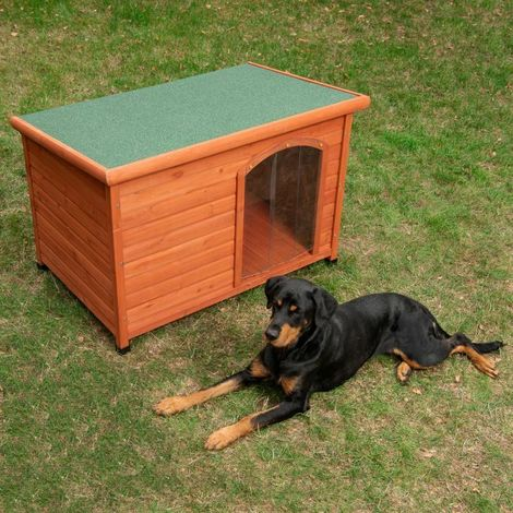 Cuccia per cane con tetto apribile 85 cm x 57 cm x 58 / 51 cm