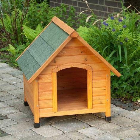 Cuccia per cani in legno casetta small + portina in gomma omaggio