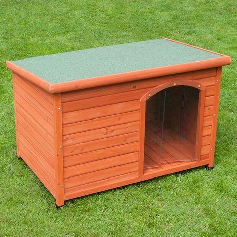 Cuccia per cani in legno tetto pari large + portina in gomma omaggio