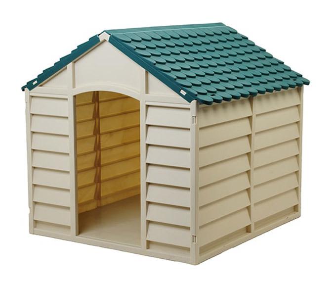 Casette Per Cani In Plastica.Cuccia Per Cani In Resina Plastica Taglia Media Grande Con Pavimento Da Esterno