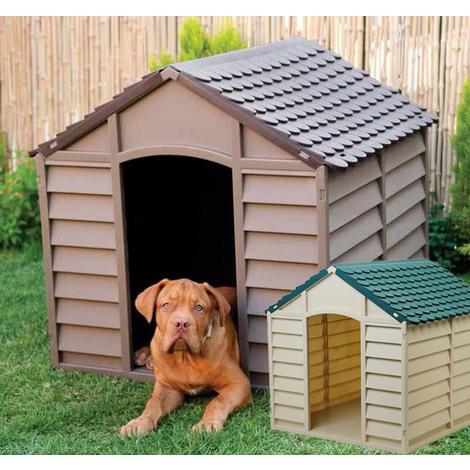Cucce Per Cani Da Esterno In Plastica.Cuccia Per Cani In Resina Plastica Taglia Media Grande Con Pavimento