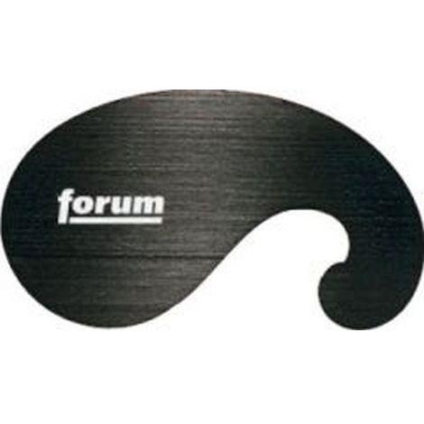 Cuchilla extraíble de rozar de Forma cuello de cisne : 120 x 70 mm, Espesor : 0,8 mm