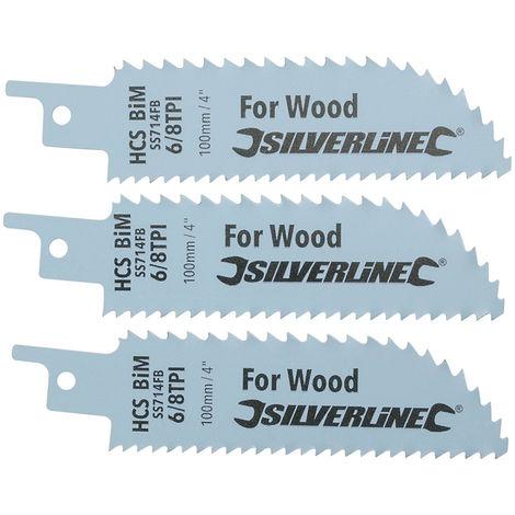 7 hojas de sierra de sable de 56 a 300 mm HCS//BIM para madera y metal