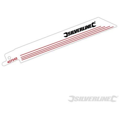 Cuchillas para sierra sable. metal. 5 pzas (Bimetal - 18 dpp - 150 mm)