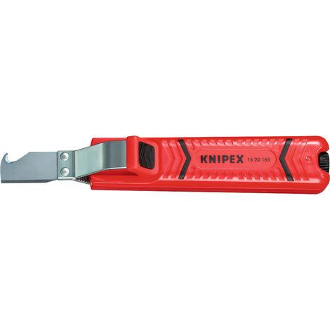 Cuchillo pela cables con gancho Knipex 1620SB-165MM