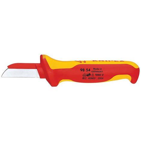 Cuchillo recto aislado 1000V cuchilla recubierta KNIPEX